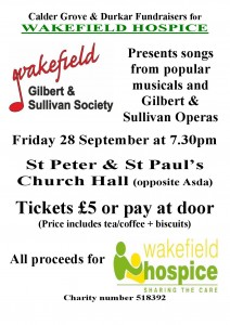 Fundraising concert for Wakefield Hospice