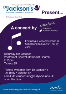 Dr Jackson's Fundraising Concert poster