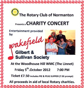 Normanton Rotary Club Concert Poster