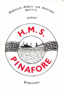 1985 HMS Pinafore programme cover