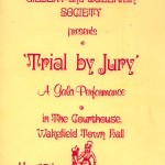 1983 - Trial by Jury programme cover