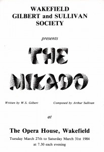 1984 - The Mikado programme cover