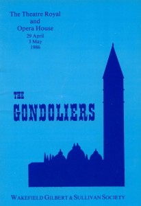 1986 - The Gondoliers programme cover
