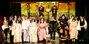 West Wickham Operatic Society in their award winning production of The Mikado, modelling our costumes