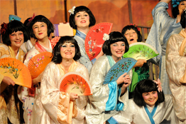 Schoolgirls at West Wickham Operatic Society (photo by WWOS)